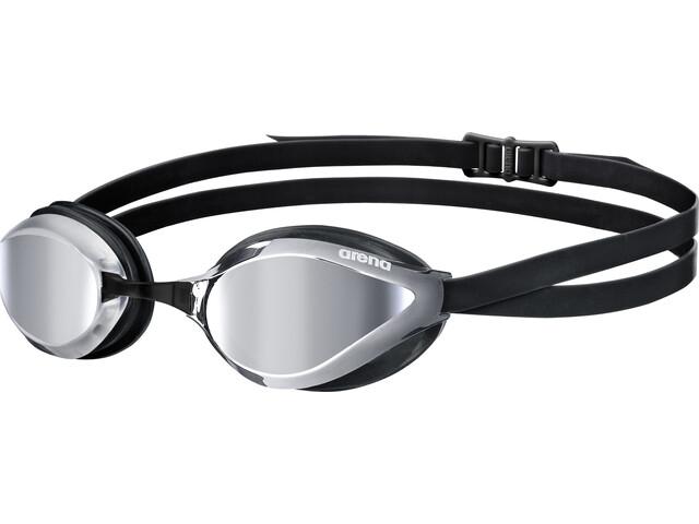arena Python Mirror Goggles silver-black